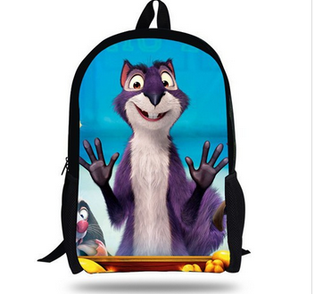 16-inch Teenage Boys School Bags The Nut Job Backpack Children 3D Printing Cartoon Kids Backpacks For School Mochila Infantil