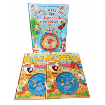 comic hardcover book printed with CD