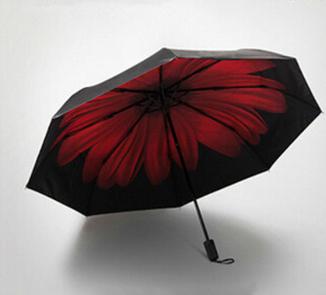 PN newest design flower inside good price convenient promotional cheap 3 folding umbrella