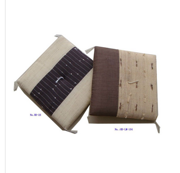 Item no.:RD-LM-154 ramie fabric cover seat cushion