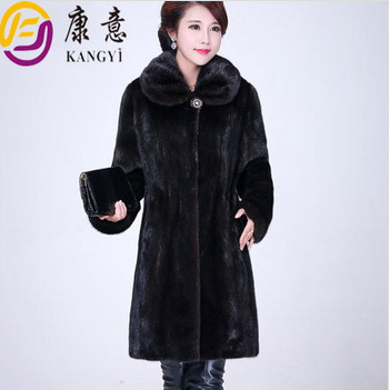 fashion women mink fur coat