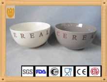 2015 new design hand printed ceramic dinner bowl