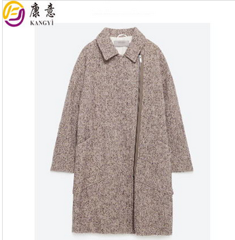 European fashion winter long wool coat