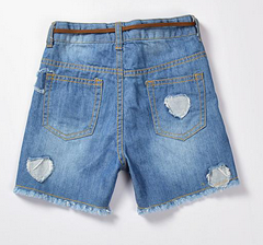 Cheap wholesales fashion short pants children's jeans for girl