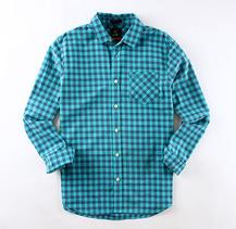 Fashionable men's cotton shirt slim shirt plaid shirt for man