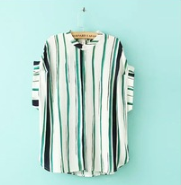 New style ladies chiffon striped shirt summer nice blouse