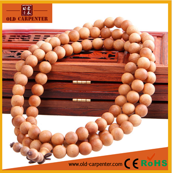 High end and elegant Barbie sandalwood bead bracelet for men women