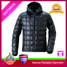 Black goose down jacket man winter jacket