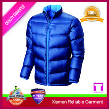 Blue colour motorbike european down jackets