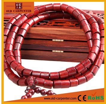 Unisex handmade Mkuruti wood Tibetan Barrel mala buddha bead fashion lucky charm bracelet
