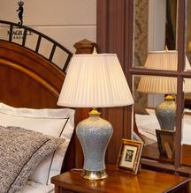 110-240v voltage 30-100w saving energy bulb fine copper base jingdezhen ceramic bedroom lamp
