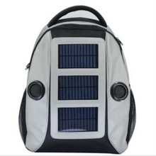 2014 Sound speaker solar backpack 3W solar 3800mAh battery