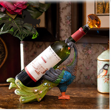 Southeast Asia style peacock wine holder,