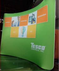 discount Printed advertised portable tradeshow displays
