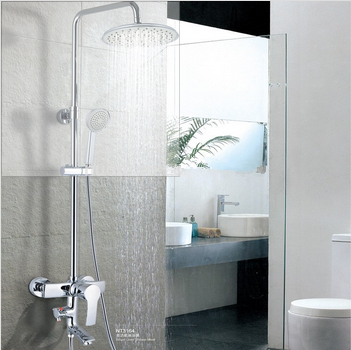 cold hot water shower set