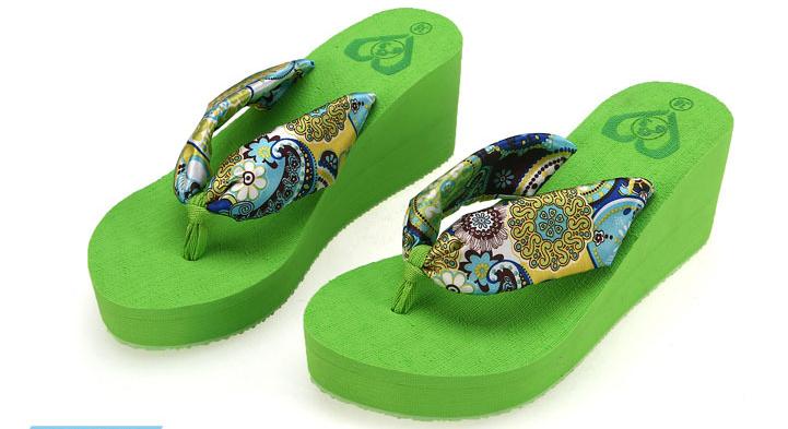 2015 663 LOULUEN Fashion High Heel Summer Women EVA Slipper