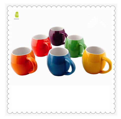 14oz Set of 6pcs Primrose Colorful Mugs with Small Mouth