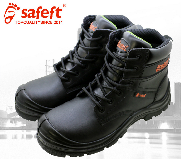 Work time safety shoes black steel toe cap safety shoes factory