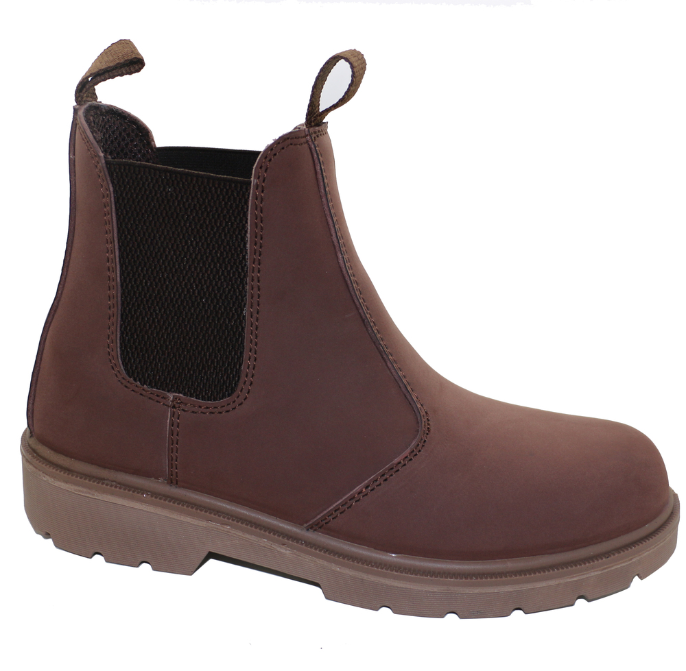 High cut brown light safety boot for worker