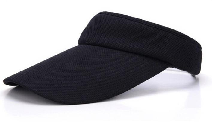 OEM fashion high quality sports cap custom cheap eyelet fabric sun visor