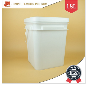 18 liter square plastic barrels packaging ice buckets with lid