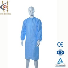 yellow disposable medical surgery isolation gown