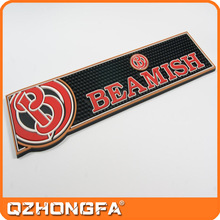 New Anti-slip Customized Washable Printed Beer Bar Mats, blank sublimation pvc bar mat