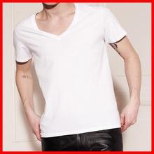 100% cotton V neck blank t-shirt dress