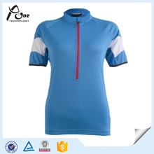 China Factory Custom Blank Blue Cycling Jersey