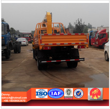 T-king lorry truck with loading crane, 2ton container truck with crane