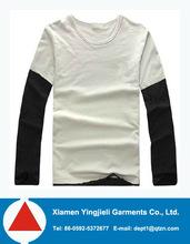 Two Color 100 Cotton Plain Blank Design T Shirt