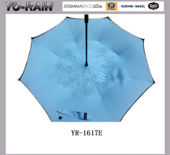 New design Hands free magic umbrella kazbrella inverted upside down reverse umbrella