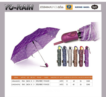 Yo rain Fashion lady umbrella with flower pattern by heat transfer print