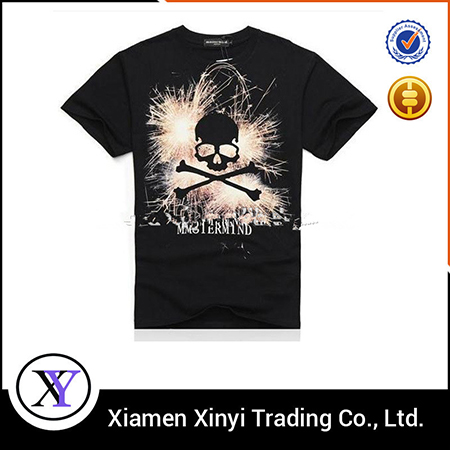 2015 Custom High Quality 100% Cotton Fitted T Shirt Print