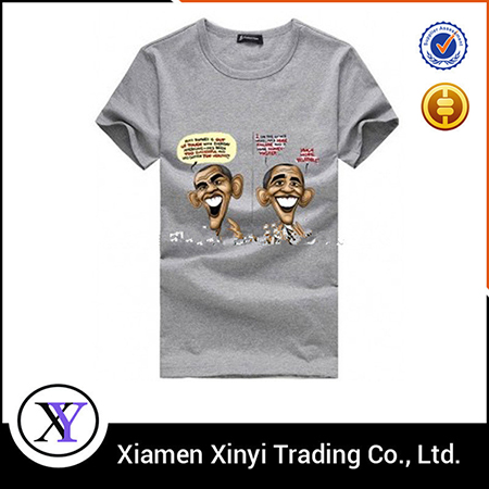 Top Fashion Large Size Front Heat Transfer Men Tee Shirt Manufacturers in China