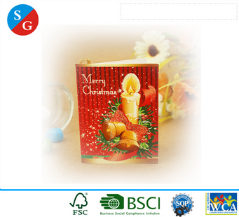 Christmas paperboard printing paper card