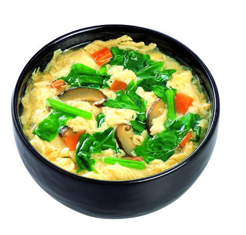 Spinach egg soup