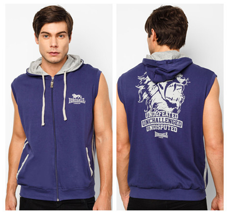 Top Quality Men's Sleeveless Hoodie With Bon Pocket