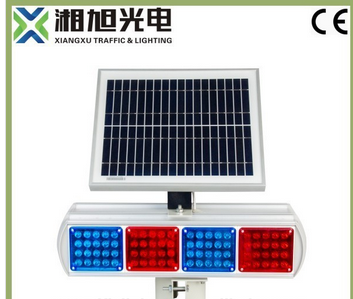 Traffic Rechargeable Battery Powered Solar LED Warning Lights Signals For Road Safety Industry