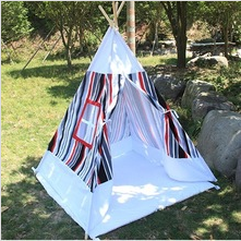 Multicolor toy tents Outdoor/Indoor cotton canvas teepee tent gifts for children