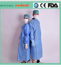 Waterproof isolation Disposable surgical cheap plastic medical dental gowns