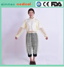 pp nonwoven medical dental non sterile visitor gown