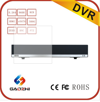 H.264 8CH 720p/1080p HD 960H HDMI eSATA P2P Network HDD Recorder DVR