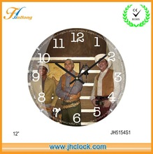 Glass Art Wall Clock, Art Clock