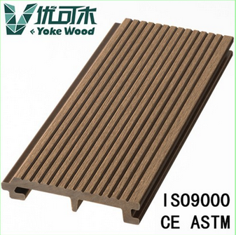 Wood-plastic slatted decking