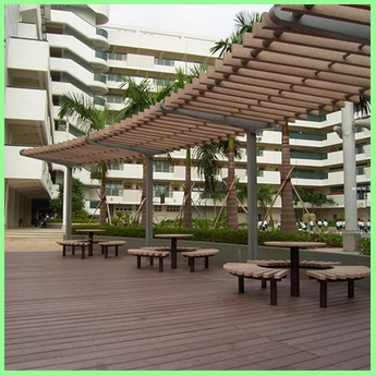 Decorative wood-plastic composite corner guard WPC