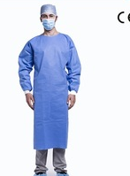 Sterile disposable surgical gown