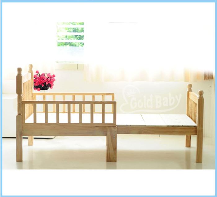 Natural NZ pine toddler bed- bed frame extensible