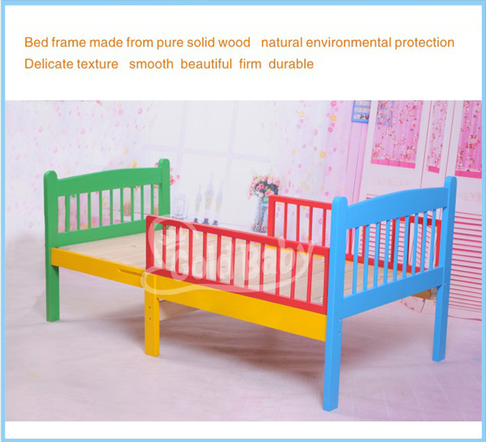 Fixed-sided multi-purposes toddler bed-convertible youth bed-extensible