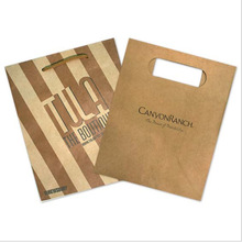 2015 brown factory die cut kraft paper bag